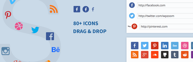 social icons widgets - 5+ Best Free WordPress Social Icons Plugins