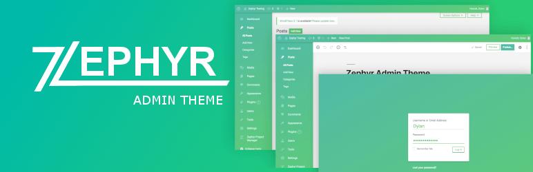 Zephyr Admin Theme - Best Free WordPress Backend Customizer Plugin