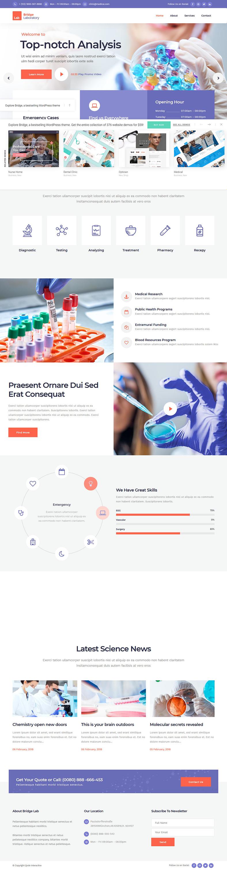 bridge best premium science wordpress theme - 10+ Best Premium Science WordPress Themes