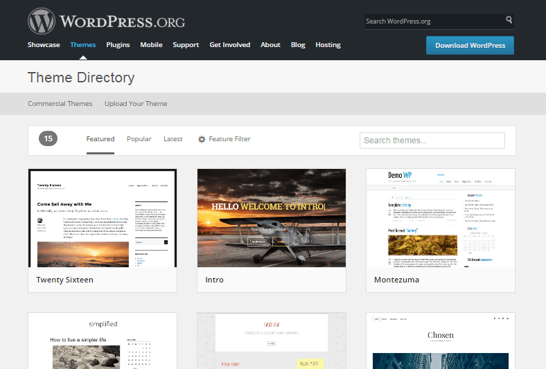 free themes - A complete guide to WordPress for beginners