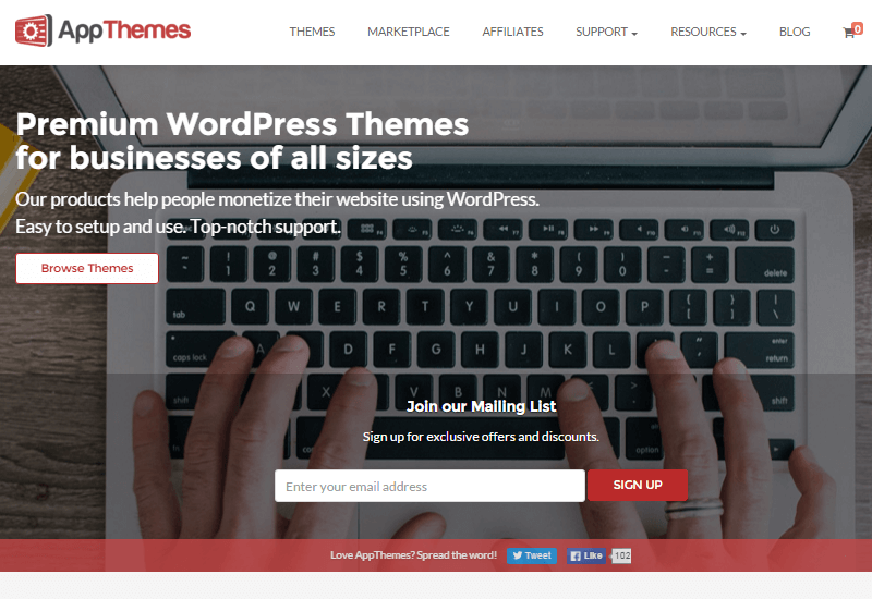 AppThemes - 25+ Best Marketplaces for Premium WordPress themes and Plugins