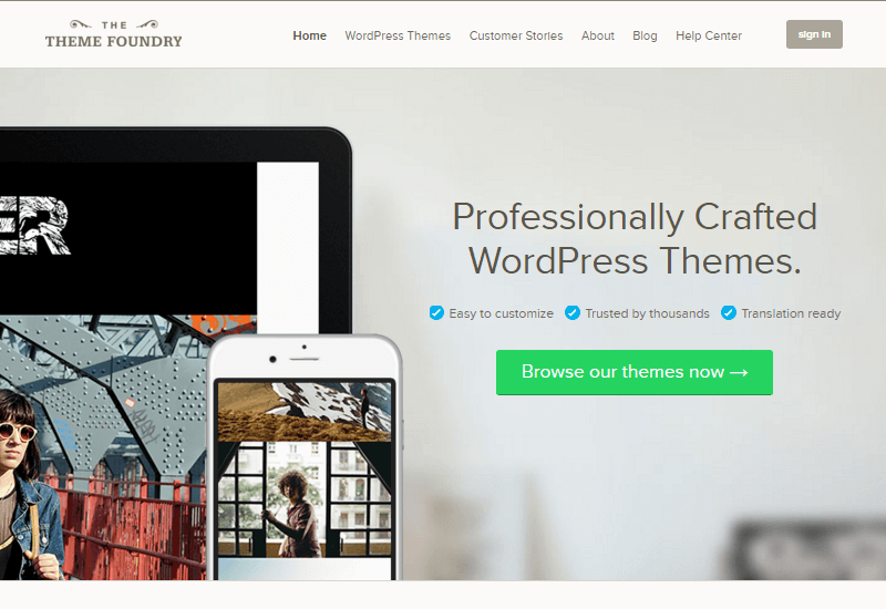 ThemeFoundry - 25+ Best Marketplaces for Premium WordPress themes and Plugins