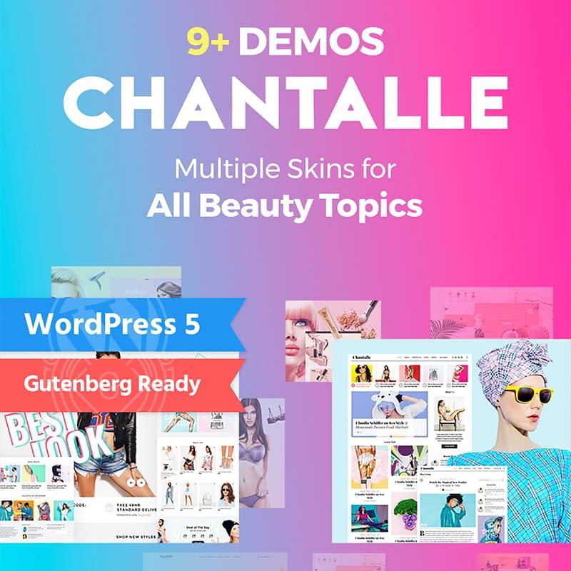Chantalle - WordPress feminine blog theme