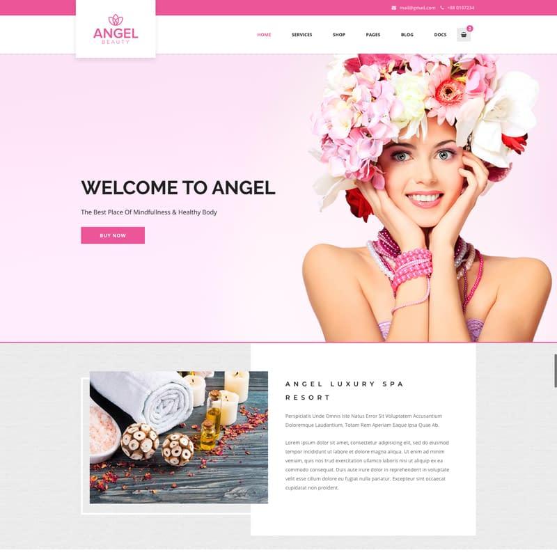 Angel - WordPress feminine blog theme