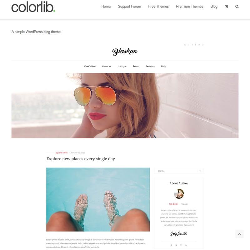 blaskan - 15 Best WordPress Feminine Blog Themes
