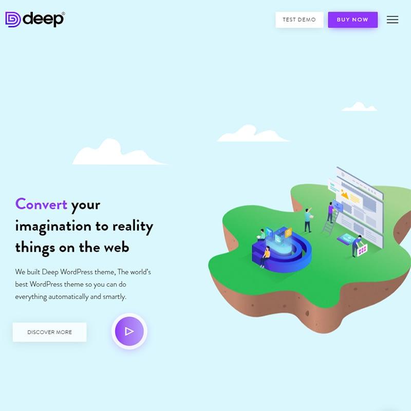deep - 15 Best WordPress Feminine Blog Themes
