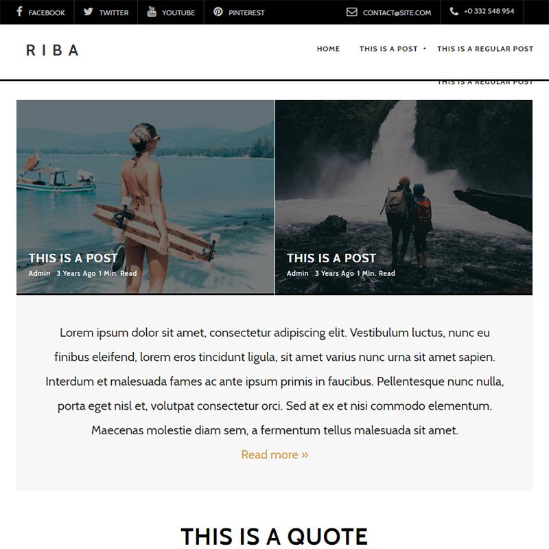 riba - 15 Best WordPress Feminine Blog Themes