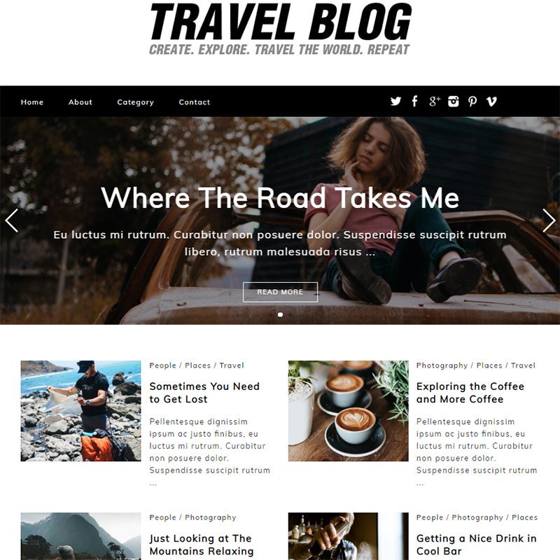 travel blog - 15 Best WordPress Feminine Blog Themes
