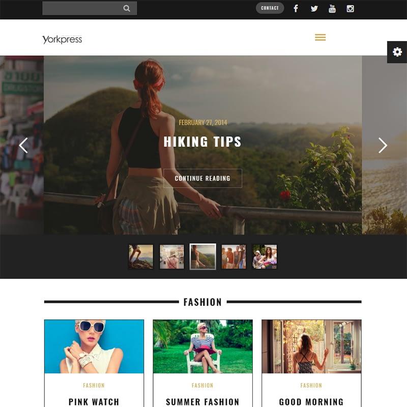 yorkpress - 15 Best WordPress Feminine Blog Themes