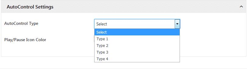 WP1 Slider: AutoControl Settings
