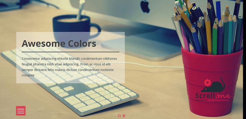 Scroll Me - Best Free WordPress Construction Company Themes 2017