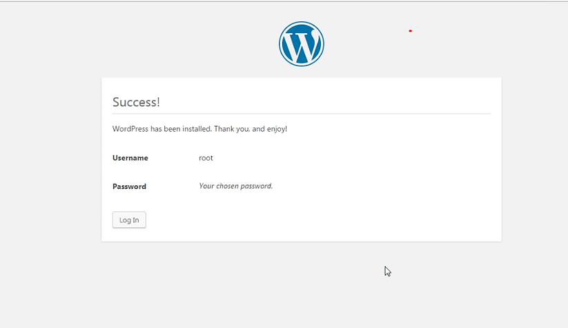 success - How to install WordPress in your Windows Computer
