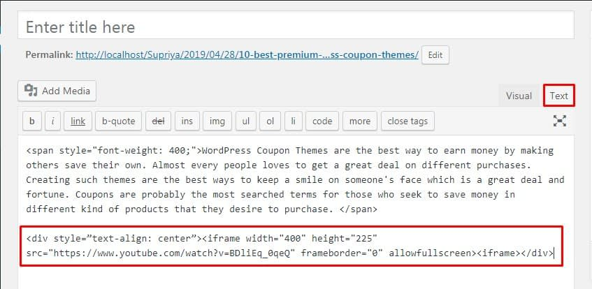 Center Align a Video in WordPress - How to Center Align a Video in WordPress?
