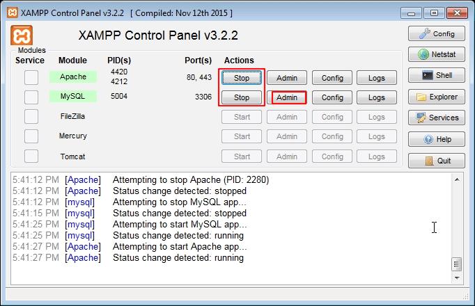 start xampp - How to install WordPress in your Windows Computer