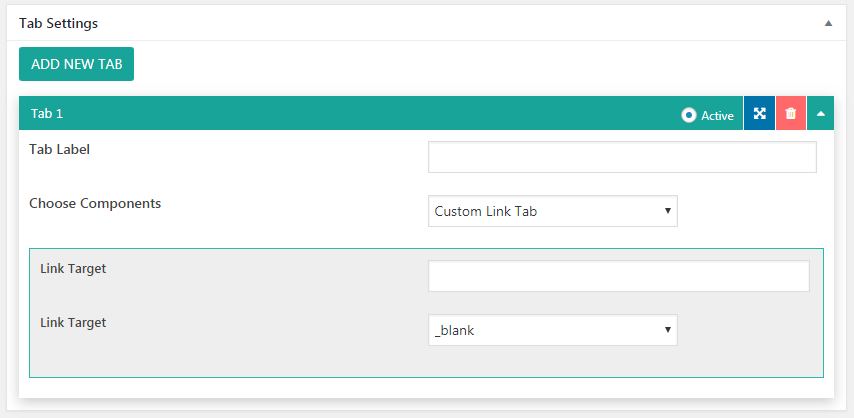 tab settings custom link - How to Add Tab Contents on WordPress Website? (Step by Step Guide)