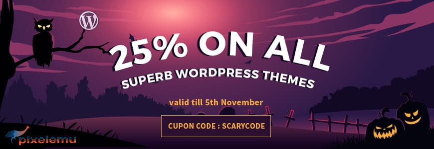 PixelEmu - WordPress Deals and Discounts for Halloween 2017