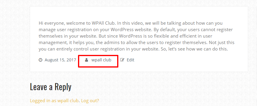 how to add or change username in wordpress