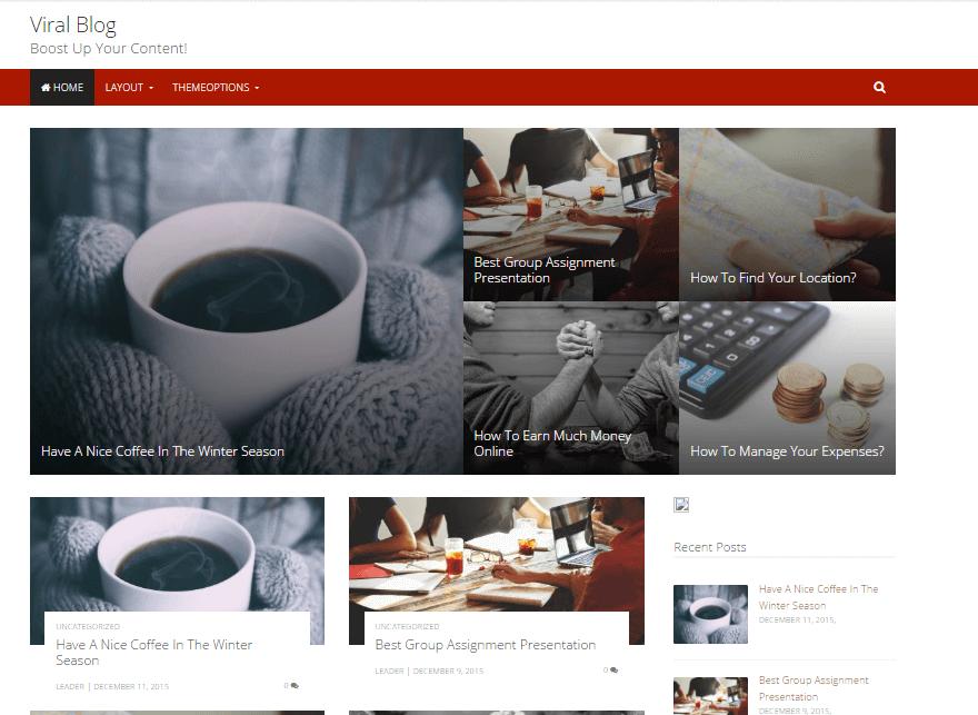 viralblog - 11+ Best Free WordPress Themes July 2016 – WPAll Club