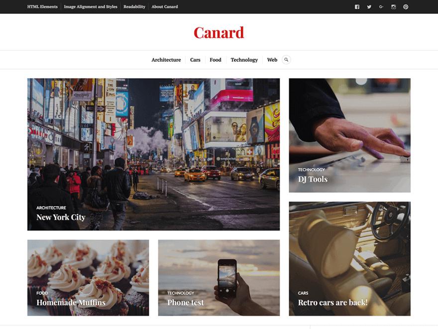 Canard - Free Photography WordPress Theme