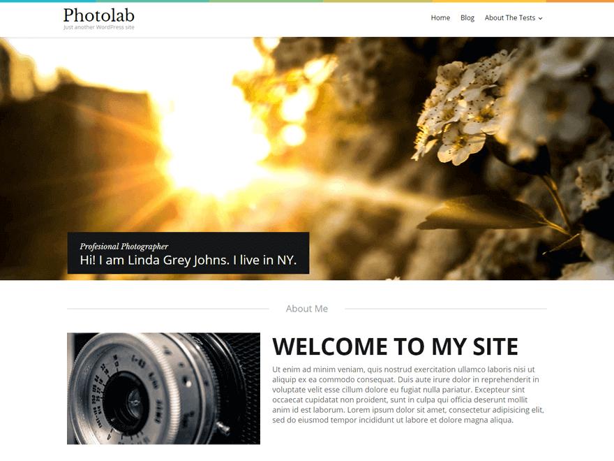 Photolab - Free Photography WordPress Theme