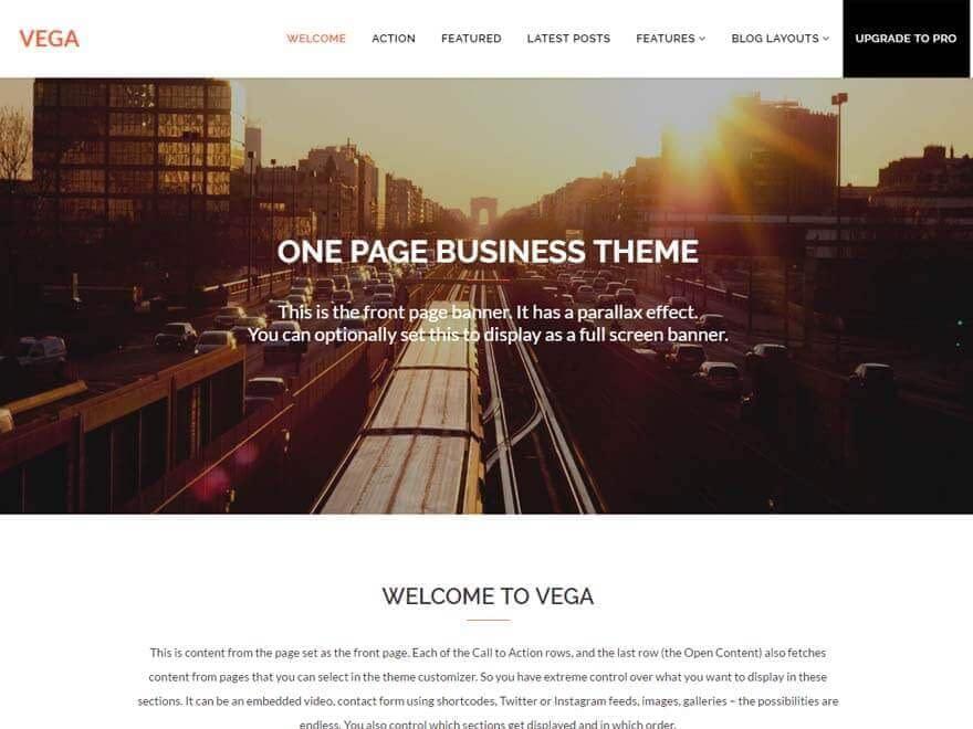 vega-free-WordPress-landing-page-theme