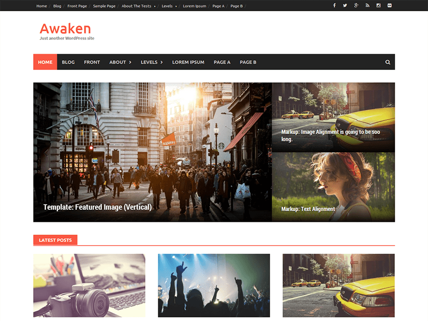 awaken - 25+ Best Free Responsive Magazine WordPress Themes 2019