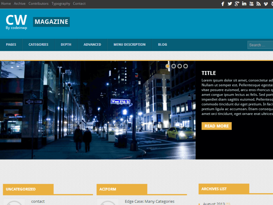 cw magzine - 25+ Best Free Responsive Magazine WordPress Themes 2019