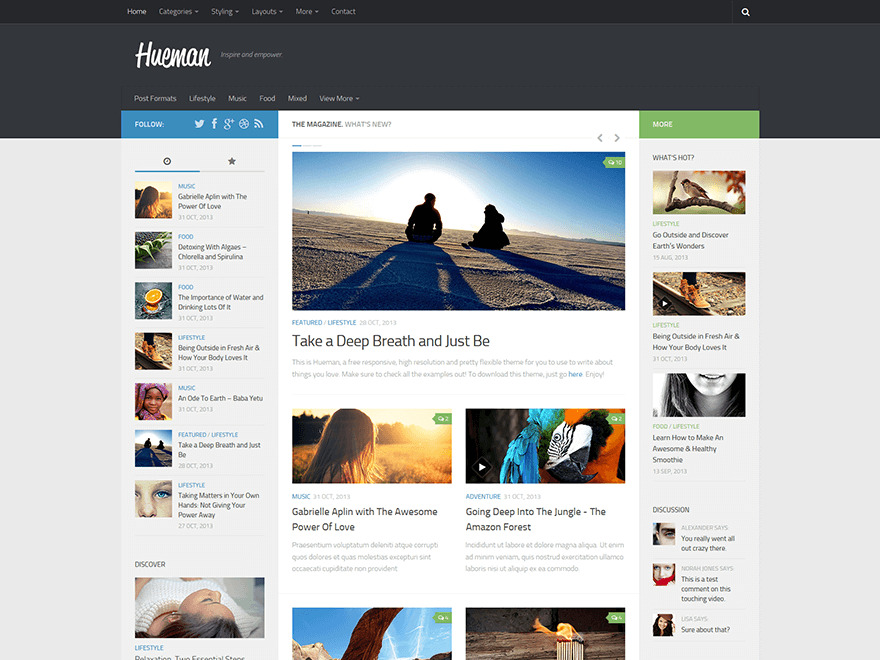 hueman - 25+ Best Free Responsive Magazine WordPress Themes 2019