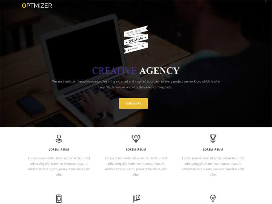 Optmizer - 25+ Best Free Responsive Magazine WordPress Themes 2019