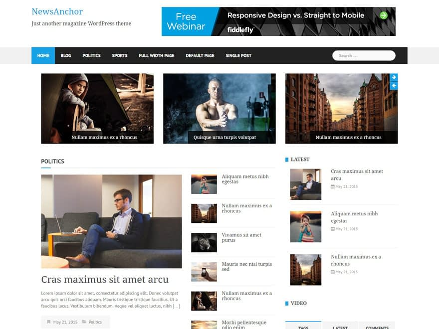 newsanchor - 25+ Best Free Responsive Magazine WordPress Themes 2019