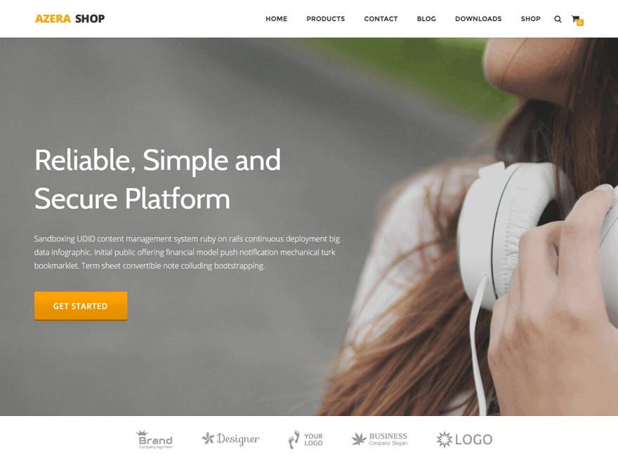 Azera Shop - 17+ Responsive Free eCommerce WordPress Themes for 2019