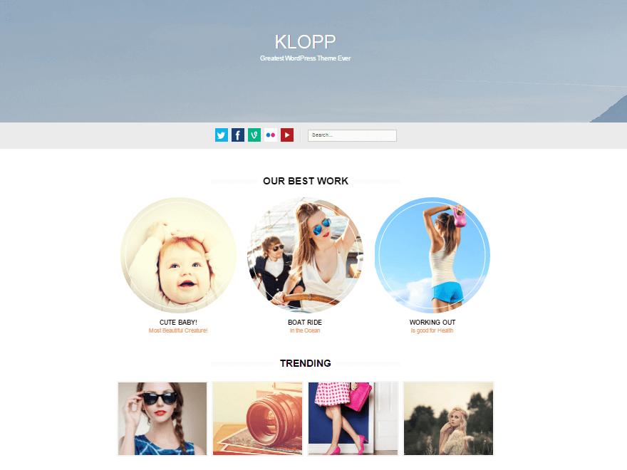 klopp - 11+ Best Free WordPress Themes July 2016 – WPAll Club