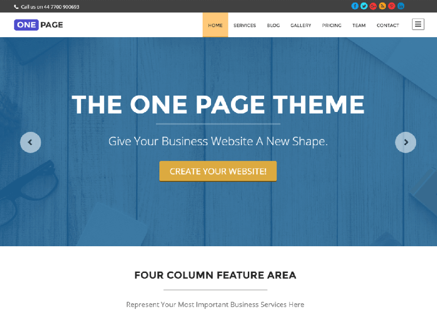 one page - 21+ Best Free One Page WordPress Themes and Templates 2019
