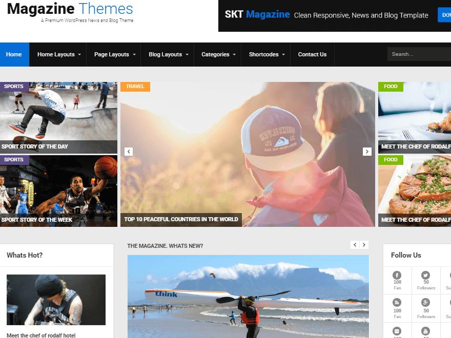 skt magazine - 11+ Best Free WordPress Themes July 2016 – WPAll Club