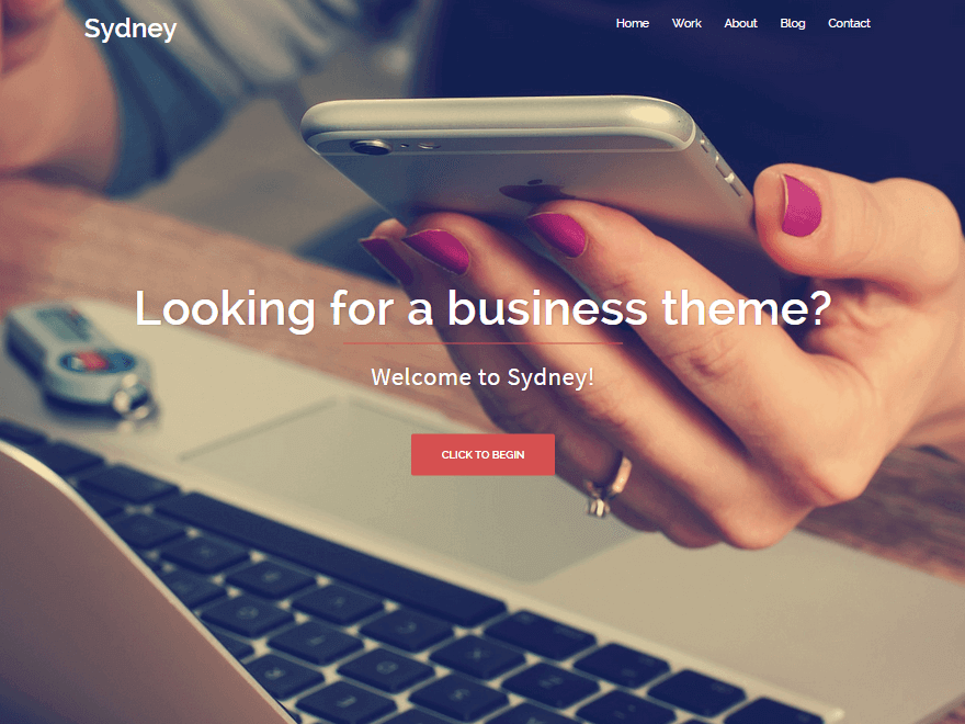 sydney - 21+ Best Free One Page WordPress Themes and Templates 2019