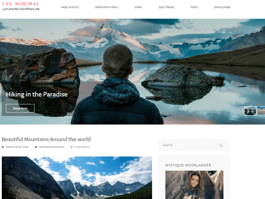 the minimal - 11+ Best Free WordPress Themes July 2016 – WPAll Club