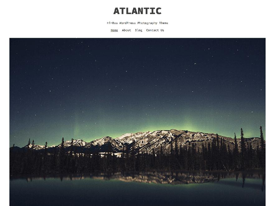 Atlantic - 23+ Best Free Photography WordPress Themes & Templates 2019