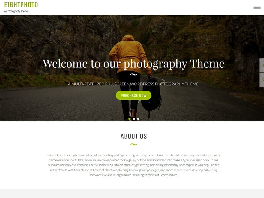 eightphoto - 30+ Best Free WordPress Photography Themes for 2019