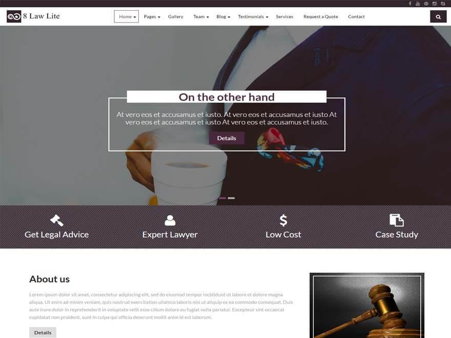 8 Law Lite - 11+ Best Free Responsive WordPress Themes September 2016