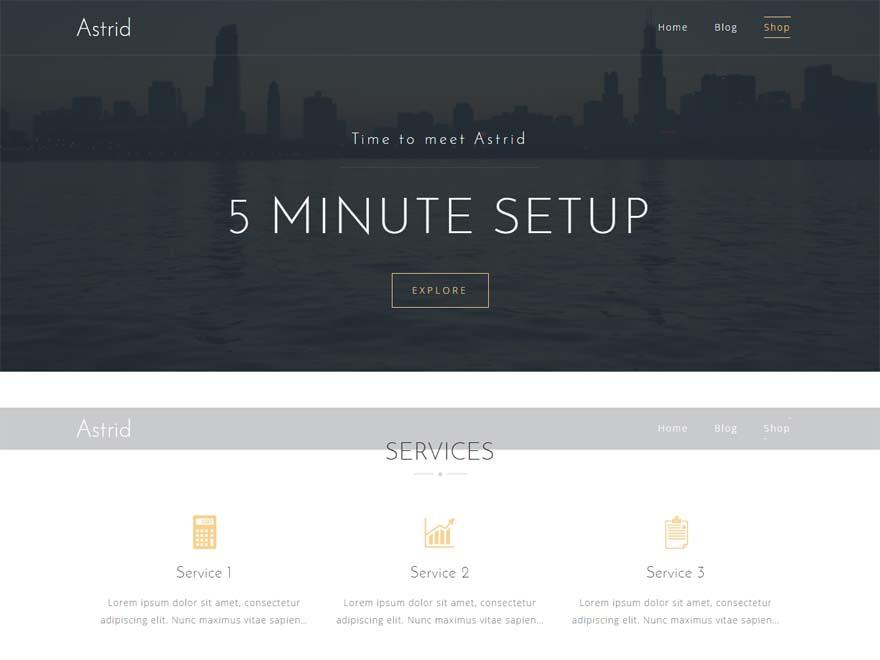 Astrid - 11+ Best Free Responsive WordPress Themes September 2016