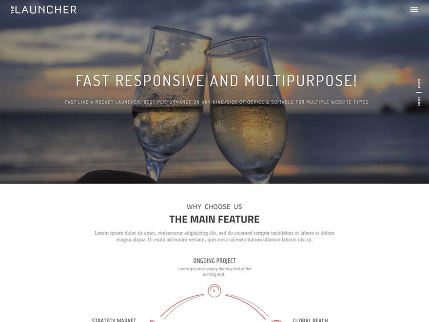 The Launcher - 11+ Best Free Responsive WordPress Themes September 2016