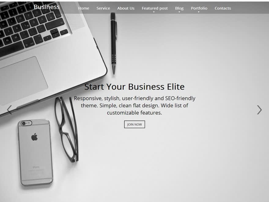 Business Elite - 30+ Best Free WordPress Landing Page Themes and Templates 2019