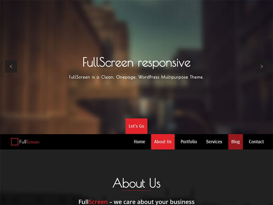 full screen - 30+ Best Free WordPress Landing Page Themes and Templates 2019