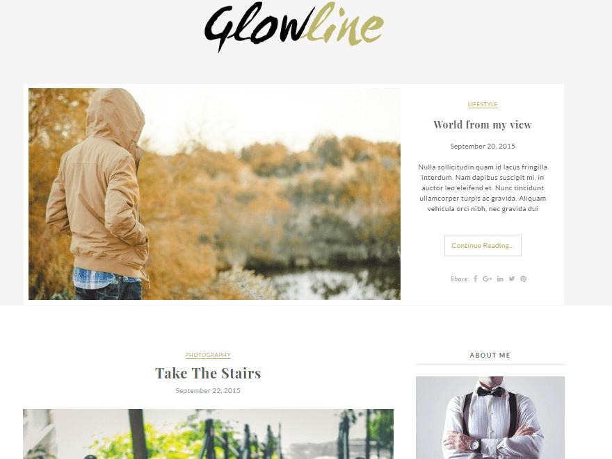 Glowline - 11+ Best Free WordPress Themes July 2016 – WPAll Club
