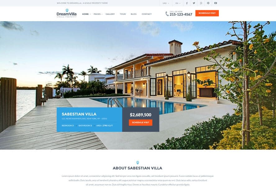 DreamVilla-Free & Premium Real Estate WordPress Themes