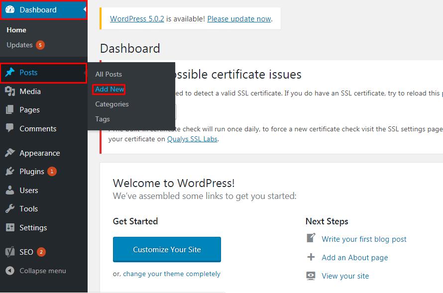 Add a New Post in WordPress - How to Add a New Post in WordPress?