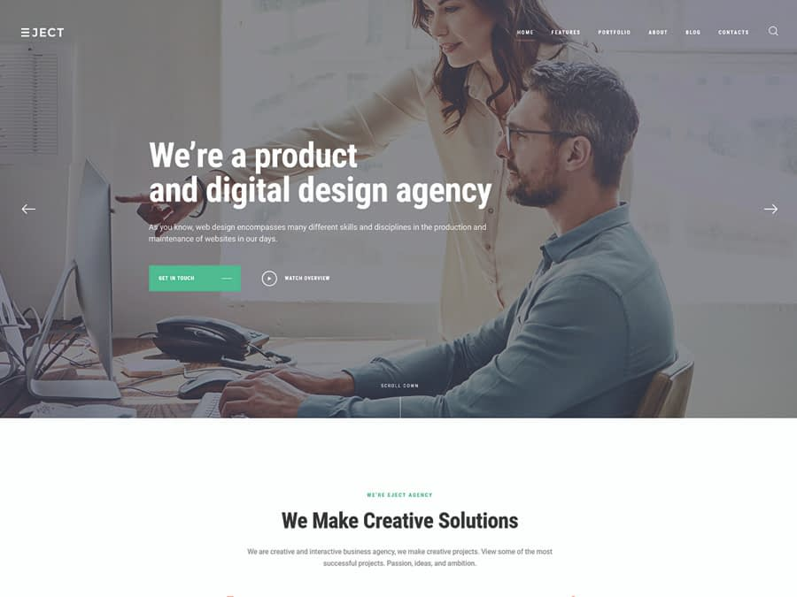 Eject Web Studio & Creative Agency WordPress Theme