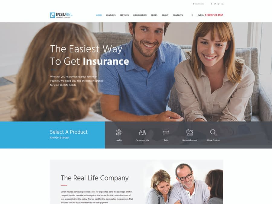 InsuRel Insurance & Finance WordPress Theme
