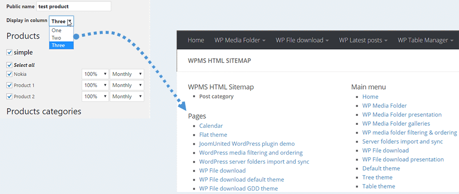 WP Meta SEO Feature - HTML Sitemap Layout
