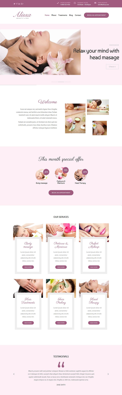 alissa best premium spa beauty wordpress theme - 10+ Best Premium Spa and Beauty WordPress Themes